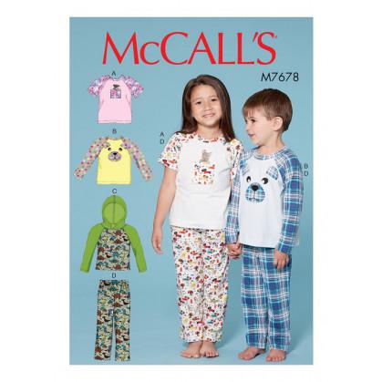 patron enfant hauts et pantalon McCall's M7678