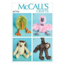 patron jouets en peluche McCall's M7703