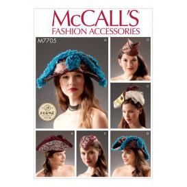 patron chapeaux McCall's M7705