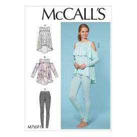 patron hauts et pantalon McCall's M7691
