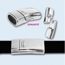 fermoir plat aimanté pour bracelet 26mmx12mm