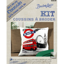 Kit coussin à broder london 40x40cm