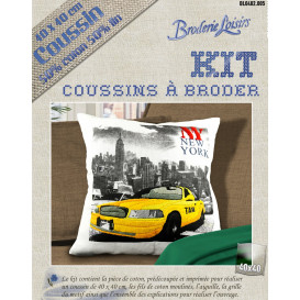 Kit coussin à broder new york 40x40cm