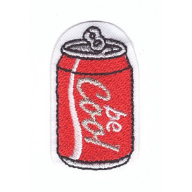 écusson canette cola be cool thermocollant