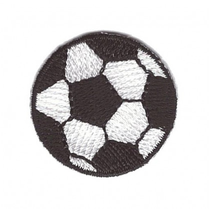 écusson ballon de foot 3cm thermocollant