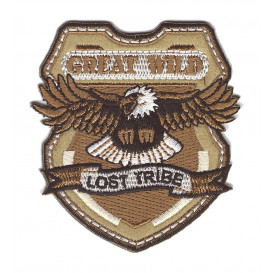 écusson aigle great wild lost tribe thermocollant