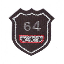 écusson blason 64 thermocollant