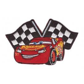 écusson disney cars flash mcqueen drapeau thermocollant