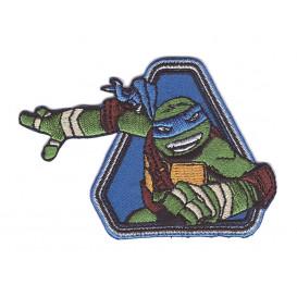écusson tortue ninja léonardo thermocollant
