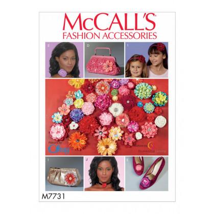 patron fleurs en ruban McCall's M7731