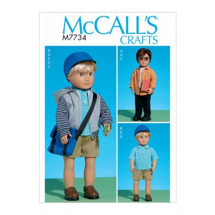 patron vêtements pour poupée 46cm McCall's M7734