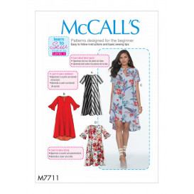 patron robes amples McCall's M7711