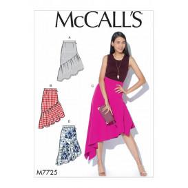 patron jupes semi-ajustées McCall's M7725