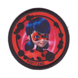 écusson miraculous ladybug rond thermocollant