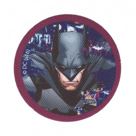 écusson batman rond violet thermocollant