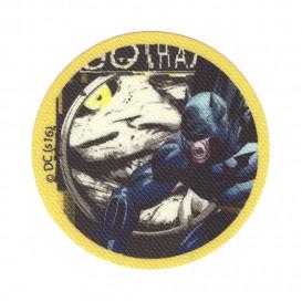 écusson batman rond jaune thermocollant