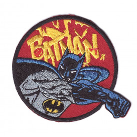 écusson batman poing thermocollant