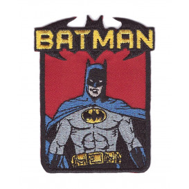 écusson batman buste thermocollant