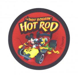 écusson disney mickey hot rod thermocollant