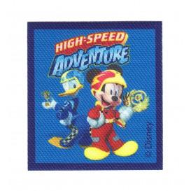 écusson disney mickey high speed adventure thermocollant
