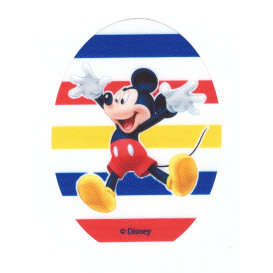 écusson disney mickey ovale grosses rayures thermocollant