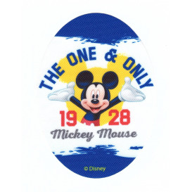 écusson disney mickey mouse ovale thermocollant