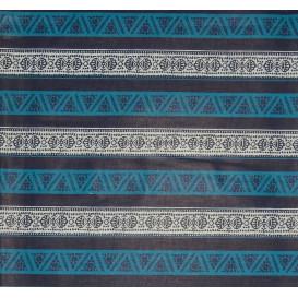 tissu africain wax bleu frise largeur 113cm x 50cm