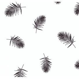 tissu popeline blanc plumes largeur 145cm x 50cm