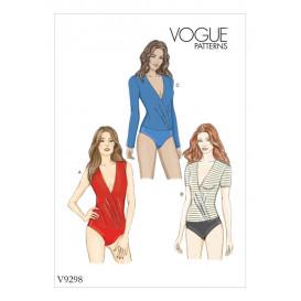 patron corsage-culotte moulant Vogue V9298