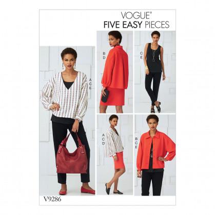 patron haut, jupe, pantalon Vogue V9286