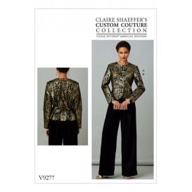 patron veste et pantalon Vogue V9277