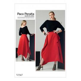 patron haut et jupe Vogue V1567
