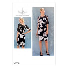 patron robe ajustée Vogue V1578