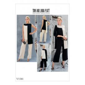 patron tunique et pantalon Vogue V1581