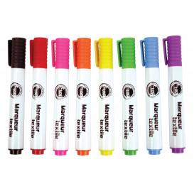 8 marqueurs textile pointe moyenne 5mm