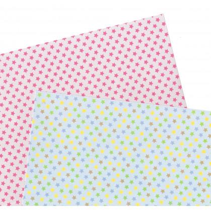 2 feuilles de papier autocollant washi paper étoiles