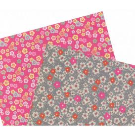 2 feuilles de papier autocollant washi paper fleurs liberty
