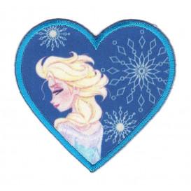 écusson disney elsa la reine des neiges coeur thermocollant