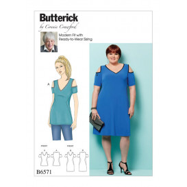patron haut et robe Butterick B6571