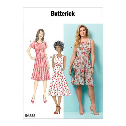 patron robe à plis Butterick B6555