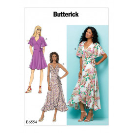 patron robes portefeuille Butterick B6554
