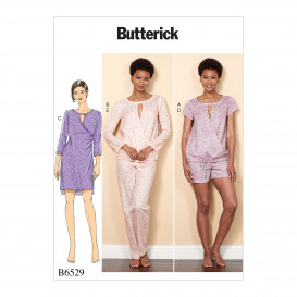 patron haut, robe, short, pantalon Butterick B6529