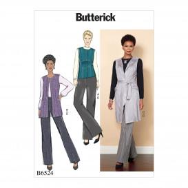 patron gilet, ceinture et pantalon Butterick B6524