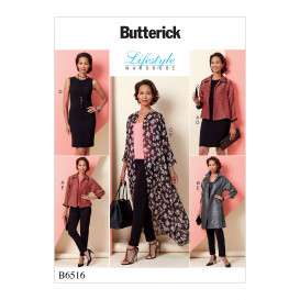 patron veste, robe et pantalon Butterick B6516