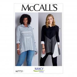 patron chemises McCall's M7751