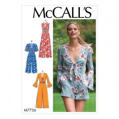 patron combinaisons et barboteuse McCall's M7756