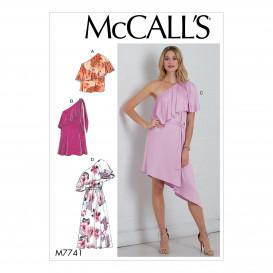patron haut, robes et ceinture McCall's M7741