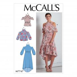 patron hauts et robes semi-ajustés McCall's M7747