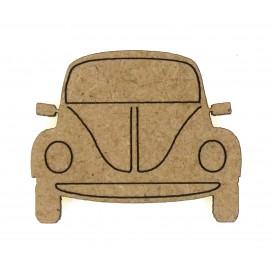 sujet en bois voiture devant 2CV