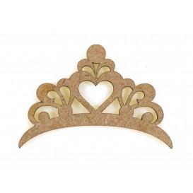 sujet en bois couronne princesse